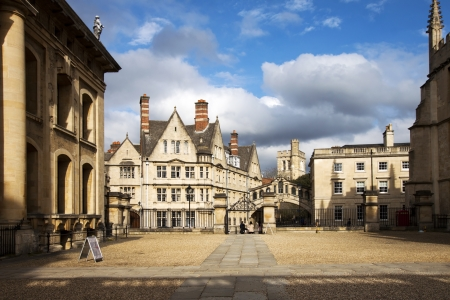Oxford Häuser mit Brücke von Seufzern Standard-Bild - 19482016