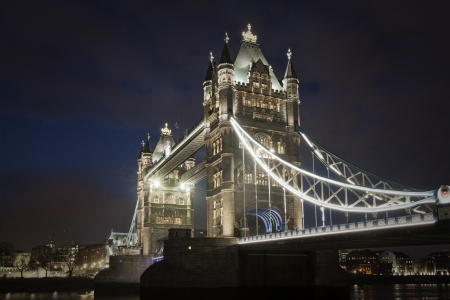 Tower bridge at night, London photo