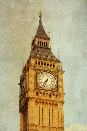 Clock face of Big Ben, Westminster photo