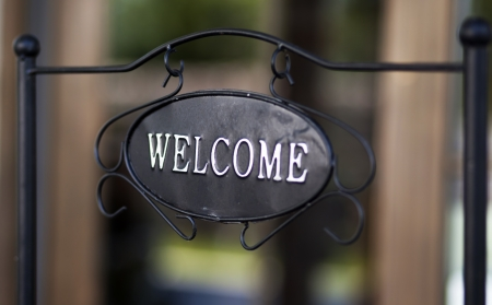 welcome sign: Welcome sign Stock Photo