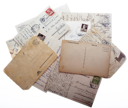 Old postcards with space for text photo