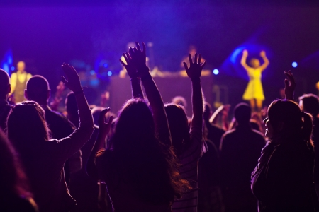 entertainment: Crowd at concert Editorial
