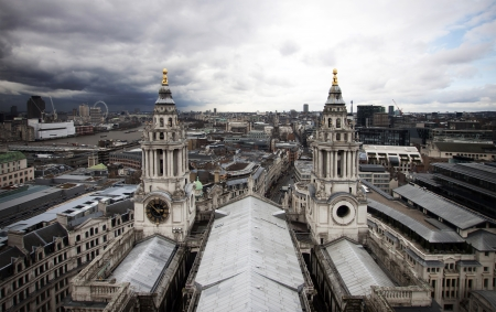 London view from St  Paul cathedral photo