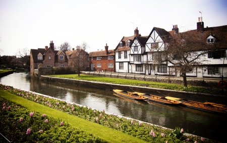 canterbury: Riverside scenery on the River Stour at Canterbury Kent England UK Stock Photo
