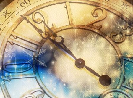 past midnight: New year Stock Photo