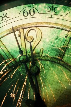 antique clock: A?o nuevo