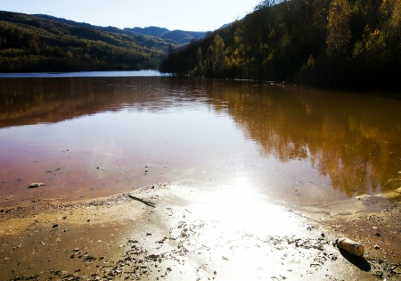 exploitation: Water pollution of a copper mine exploitation