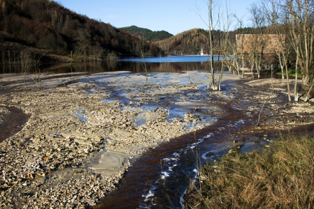 hazardous waste: Water pollution of a copper mine exploitation