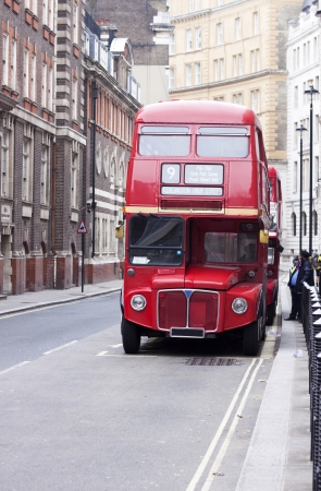 old red London bus photo