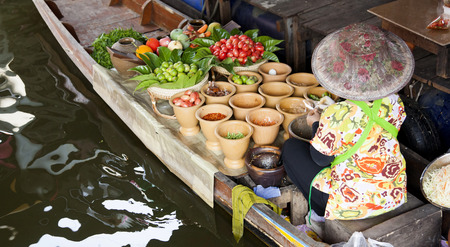 practiced: Floating market, Thailand