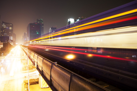Lightrail of skytrain in Bangkok photo