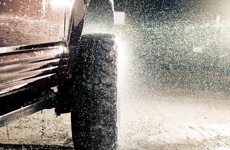 dirty car: Car wash