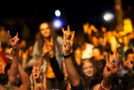 Crowd at concert photo