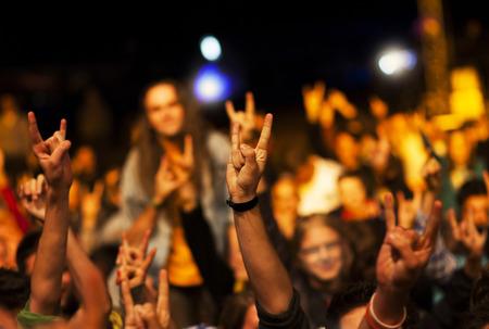 Crowd at concert Banque d'images