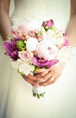 Beautiful wedding bouquet Фото со стока - 32076588