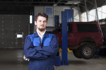 Car mechanic at work photo