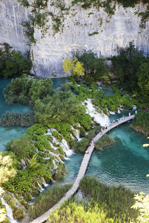 plitvice: View on Plitvice lakes and waterfalls in Croatia