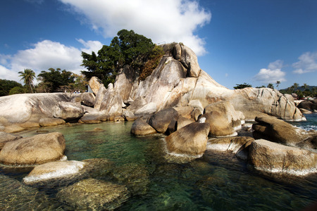 ko: Beautiful Lamai beach, Ko Samui, Thailand - exotic holiday background