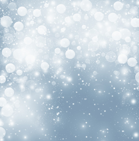 abstract Christmas background with white snowflakes photo