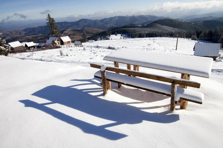 capped: Snow capped table