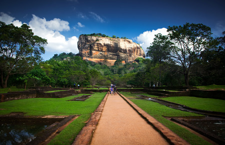 sri: Sigiriya Lion Rock Fortress in Sri Lanka