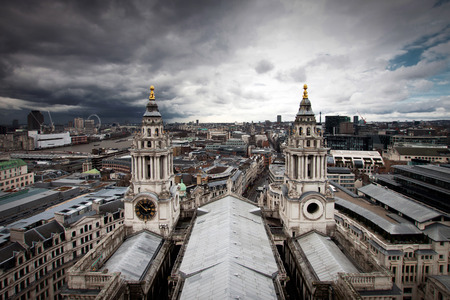 London view from St. Paul cathedral photo