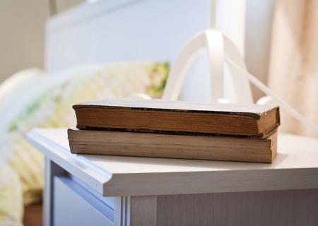 bedlinen: bedroom with books on nightstand