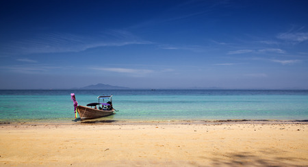longtail: Longtail boats on the beautiful beach, Thailand