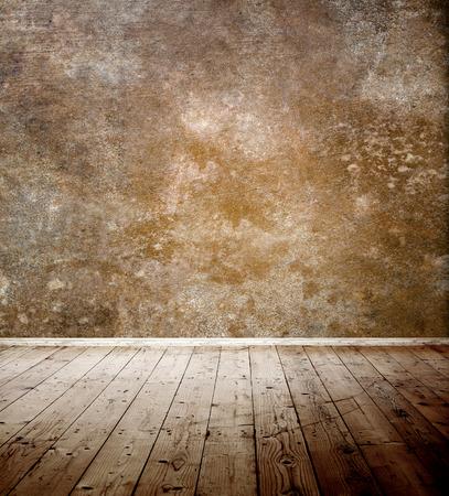 Empty room with wooden floor photo