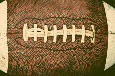 american football ball: Close up of an american football