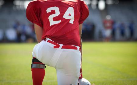 quarterback: American football game Stock Photo