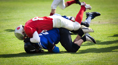American football game Banque d'images