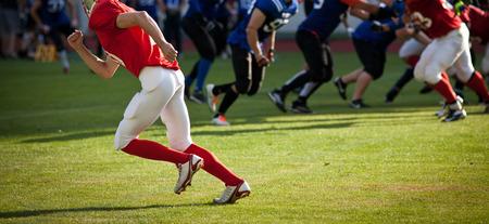 football player: American football game Stock Photo
