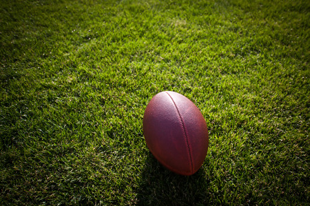 pigskin: American football game Stock Photo