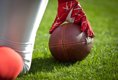 college football: American football game Stock Photo