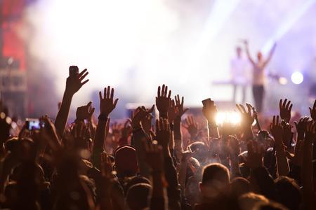 Crowd at concert 写真素材