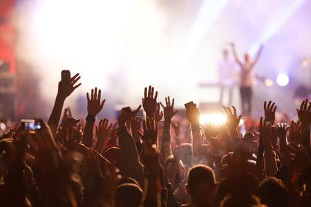콘서트에서 군중