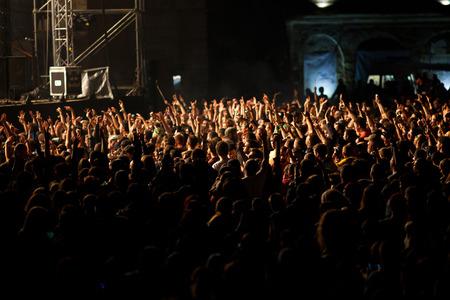 祭り: コンサートで観客 写真素材