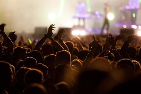 Crowd at concert Archivio Fotografico