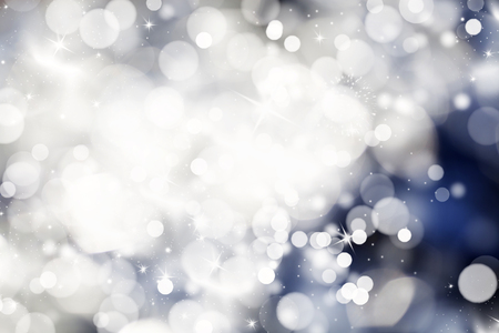 holiday lights: Abstract Christmas background with snowflakes and holiday lights