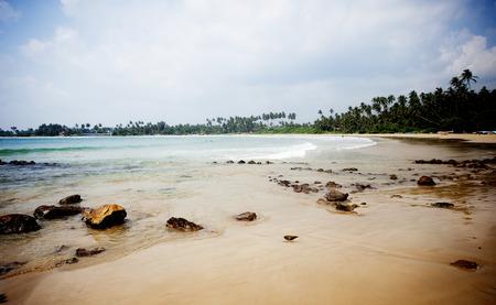 srilanka: tropical beach in Sri-Lanka
