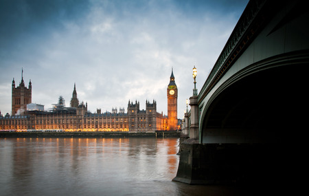 tower house: Big Ben Clock Tower and Parliament house at city of westminster, London England UK