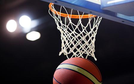 Ball in hoop Stock Photo