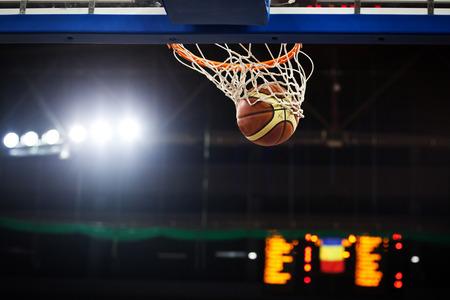 Ball in hoop 写真素材