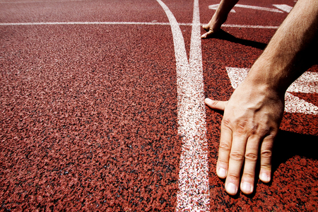 starting line: Hands on starting line