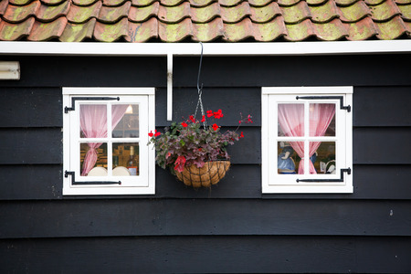dutch typical: typical Dutch house in Zaandam, theNettherlands