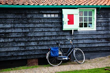 typical Dutch house in Zaandam, theNettherlands