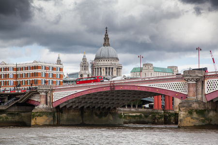 LONDONUK - MAY 20 : St. Paul Cathedral and Blackfriars Bridge, London