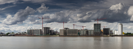 LONDONUK - MAY 20 : Royal Wharf, a new construction site between North Greenwich and Woolwhich