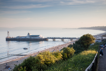 BOURNEMOUTH, UK - 1st JUNE, 2017: Bournemouth beach pier and coast, Dorset, England Editorial